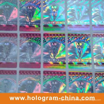 Coberturas transparentes da identificação do holograma do laser 3D Anti-Falso