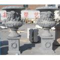 Florero de mármol para jardín de piedra (QFP253)