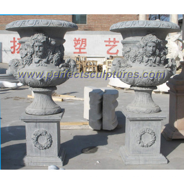 Marble Flower Vase for Garden Stone (QFP253)