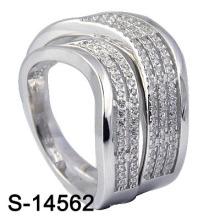 Мода обручальное кольцо с 925 ювелирных изделий стерлингового серебра (S-14562. JPG)