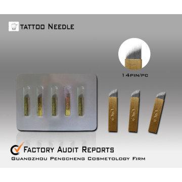 Aguja de tatuaje de maquillaje permanente manual aguja aguja de pluma - CO14