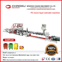 PC Mono Layer Sheet Extruder Machine for Suitcase and Luggage