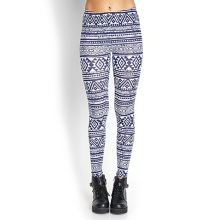 OEM Geo Tribal Print Leggings with Elasticized Waist