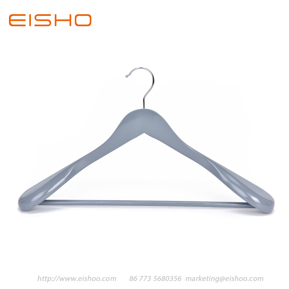 5 Eisho Grey Wood Suit Coat Hanger