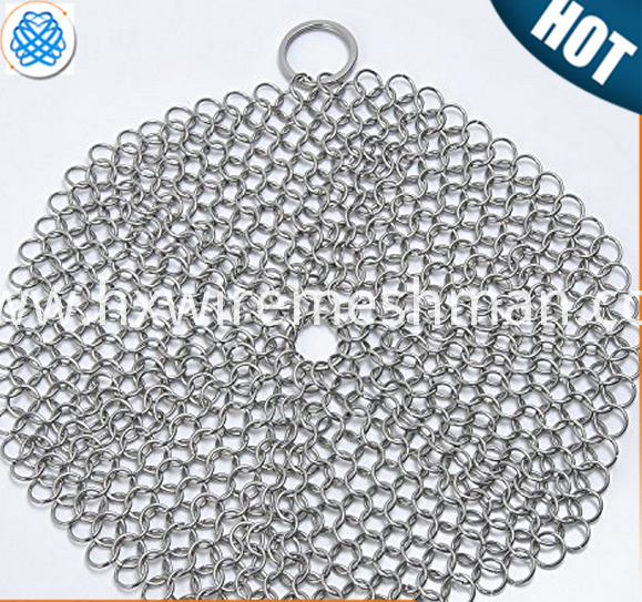 wire mesh cast iron pot cleaner
