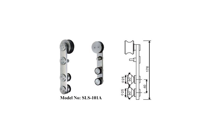 Stainless Steel Crescent Sliding Shower Door Kits B