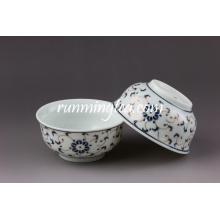 Coupe de thé en porcelaine de fleurs oranges de lumière, 60 ml / tasse