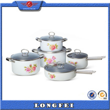 Hot vendendo 10 PCS China Cookware Set com alça S / S