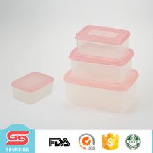 O plástico multifuncional mantem o recipiente de alimento fresco do quadrado da caixa com 4 PCes