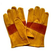 Cuero de vaca de corte de corte resistente a los guantes de trabajo Proctective para Riggers