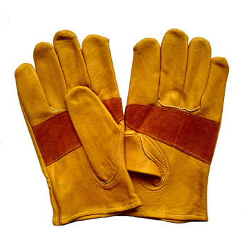 Cow Grain Leather Cut Resistant Proctective Working Gloves for Riggers