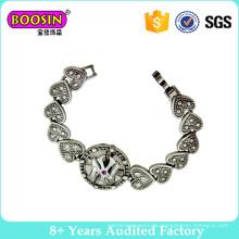 Fabrik Heißer Verkauf Mode Vintage Herz Kette Armband mit Kristall # 3436