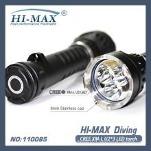 Trendy 3*XML2-U2 led magnetic switch diving primary flashlight
