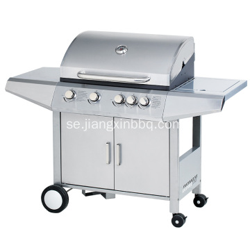 4 Brännare Stainless Steel Gas BBQ Grill