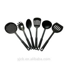 Juego de cubiertos de cocina de utensilios de cocina de nylon negro