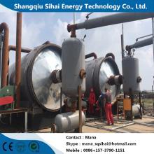 Processamento de óleo combustível com usina de resíduos de borracha