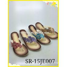 2015 Neue Damen Farbe Print Flip Flop Slipper Schuhe