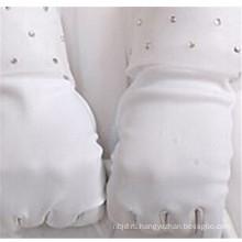 Высокое качество свадебные атласной свадебные перчатки дешевые наручные длина кружева перчатки