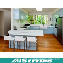 U-Shape Lacquer UV Kitchen Cupboard Furniture (AIS-K372)