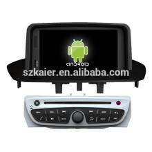 Glonass / GPS Android 4.4 Miroir-lien TPMS DVR voiture lecteur GPS pour Renault Megane 2014 / Fluence avec GPS / Bluetooth / TV / 3G