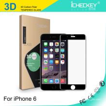 Protector de pantalla de fibra de carbono de vidrio templado al por mayor chino 3D para iPhone6
