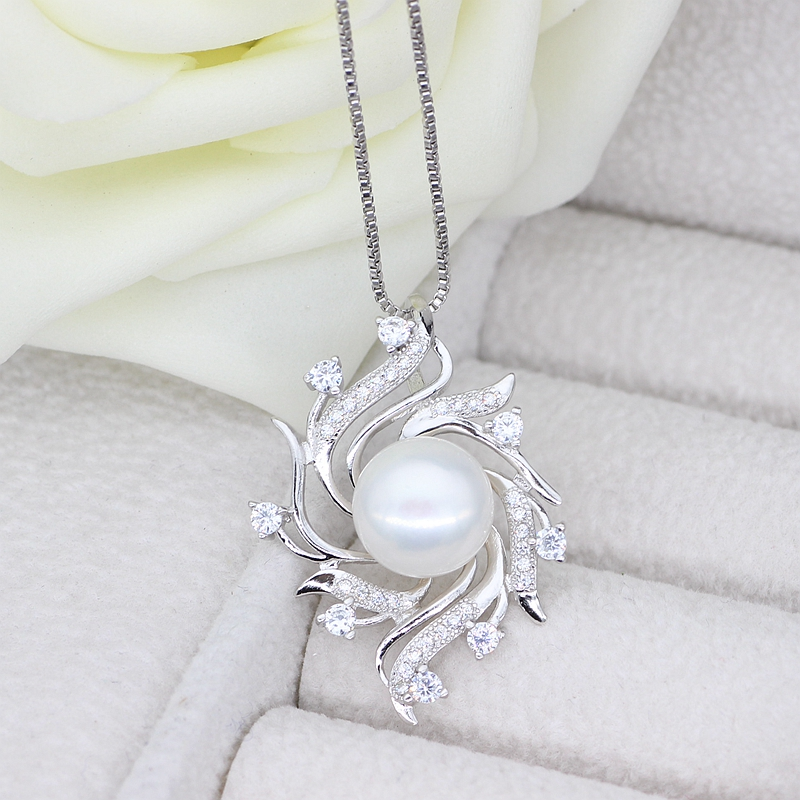 White Pearl Pendant Necklace