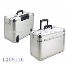 novo design..--forte & portátil alumínio bagagem por atacado fabricante