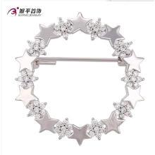 Xuping Moda Elegante Rhodium Estrela Cristais De Jóias Swarovski Elemento Broche -00007