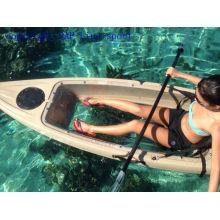 Kayak simple transparente de la pesca de la parte inferior transparente con el certificado de CE