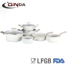 Кованые мрамор/камень покрытием сковорода алюминиевая с антипригарным покрытием набор посуды