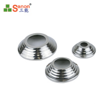 Foshan direct customized base plate cover round pipe column stainless steel Bottom cover