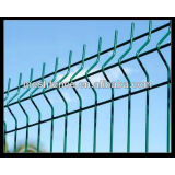 Powder coated V weldmesh fencing