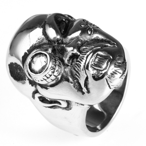 Professional Wholesale Gothic Punk dummy eye skull ring