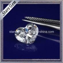 Diamant synthétique de forme de coeur Moissanite lâche pour des bijoux