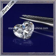 Форма сердца синтетический Муассанит свободные алмазов для ювелирных изделий
