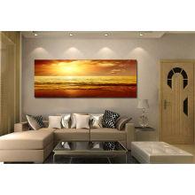 Pintura de alta qualidade da lona do por do sol para a decoração Home