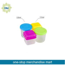 conjunto de recipiente plástico Mini 4pcs