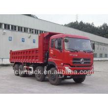Camión de volcado caliente de la venta 8x4, camión volquete de la mano izquierda del dongfeng