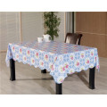 New Design Vinyl Material PVC Printed Table Cover Nonwoven Backing Tablecover