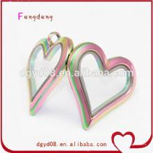 floating charm heart locket pendant