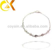 Aço inoxidável jóias acessorries charme cadeia link irmã amizade pulseira