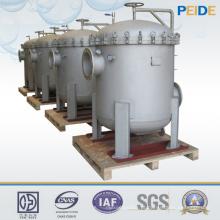 Filtro de saco múltiplo industrial dos sistemas da filtragem da água 1-800um