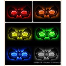 Masque Glow Halloween en forme de chauve-souris