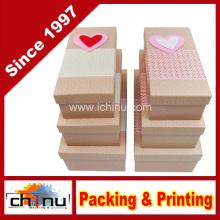 Caja de regalo de papel con la aduana del OEM y en la acción (110385)