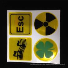 Heißer Verkauf Dekorative Handwerk Reflektierende Aufkleber und Aufkleber für jede sicherheitsrelevante Anwendung