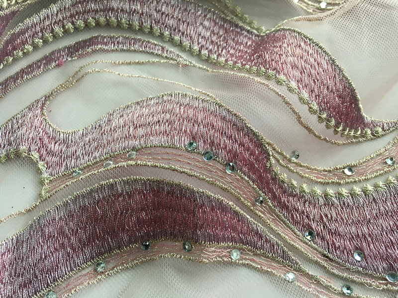 Embroidery Fabric With Strass