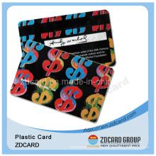 Offset impressão plástico PVC nome cartão de visita