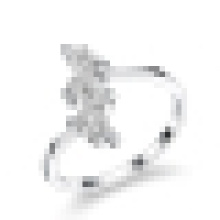 Doce de mulheres 925 prata esterlina zircão diamante anel de abertura do casamento
