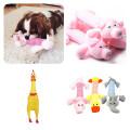 1PC Plush/Rubber Dog Chew Squeak Toys