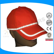 fluorecent yellow or orange safety reflective cap with grey reflective piping